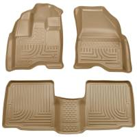 Husky Liners - Husky Liners 09-13 Lincoln MKS WeatherBeater Combo Tan Floor Liners - Image 1
