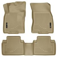 Husky Liners - Husky Liners WeatherBeater 14 Nissan Rogue Front & Second Row Tan Floor Liners - Image 1