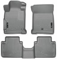 Husky Liners - Husky Liners 2013 Honda Accord WeatherBeater Grey Front & 2nd Seat Floor Liners (4-Door Sedan Only) - Image 1