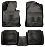 Husky Liners - Husky Liners 2011 Hyundai Elantra WeatherBeater Combo Black Floor Liners - Image 1