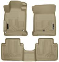 Husky Liners - Husky Liners 2013 Honda Accord WeatherBeater Tan Front & 2nd Seat Floor Liners (4-Door Sedan Only) - Image 1
