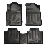 Husky Liners - Husky Liners 07-11 Toyota Camry (All) WeatherBeater Combo Black Floor Liners (One Piece for 2nd Row) - Image 1