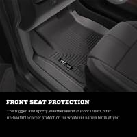 Husky Liners - Husky Liners 2016 Toyota Tacoma w/ Manual Trans WeatherBeater Front Black Floor Liners - Image 9