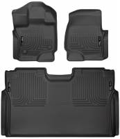 Husky Liners - Husky Liners 15-19 Ford F-150 SuperCrew Cab Front & 2nd Seat Weatherbeater Floor Liners - Image 1