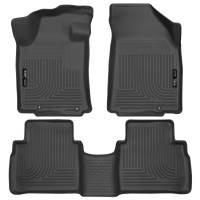 Husky Liners - Husky Liners 2016 Nissan Maxima WeatherBeater Front and Second Row Black Floor Liners - Image 1