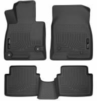 Husky Liners - Husky Liners WeatherBeater 14 Mazda 3 Hatch&Sedan Front & Second Row Black Floor Liners - Image 1