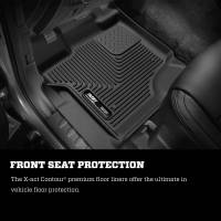 Husky Liners - Husky Liners 2017 Ford F250 Crew Cab Vinyl X-Act Contour Black Floor Liners - Image 2