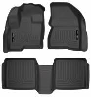 Husky Liners - Husky Liners 09-12 Ford Flex/10-12 Lincoln MKT WeatherBeater Combo Black Floor Liners - Image 1