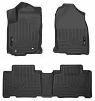Husky Liners - Husky Liners 13 Toyota RAV4 Weatherbeater Black Front & 2nd Seat Floor Liners - Image 1