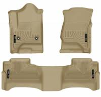 Husky Liners - Husky Liners 14 Chevrolet Silverado/GMC Sierra WeatherBeater Tan Front & 2nd Seat Floor Liners - Image 1