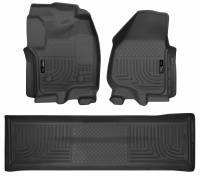 Husky Liners - Husky Liners 2012.5 Ford SD Crew Cab WeatherBeater Combo Black Floor Liners (w/o Manual Trans Case) - Image 1