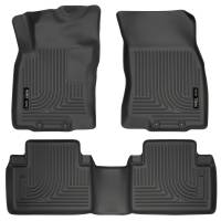 Husky Liners - Husky Liners WeatherBeater 14 Nissan Rogue Front & Second Row Black Floor Liners - Image 1