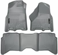 Husky Liners - Husky Liners 2012 Dodge Ram 1500/2500/3500 Crew Cab WeatherBeater Combo Gray Floor Liners - Image 1
