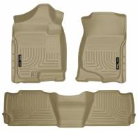Husky Liners - Husky Liners 07-13 GM Escalade/Suburban/Yukon WeatherBeater Tan Front & 2nd Seat Floor Liners - Image 1