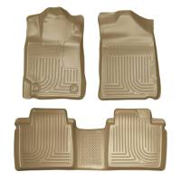 Husky Liners - Husky Liners 07-11 Toyota Camry (All) WeatherBeater Combo Tan Floor Liners (One Piece for 2nd Row) - Image 1