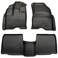 Husky Liners - Husky Liners 11-12 Ford Explorer WeatherBeater Combo Black Floor Liners - Image 1