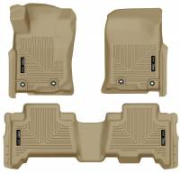 Husky Liners - Husky Liners 2013 Toyota 4Runner WeatherBeater Tan Front & 2nd Seat Floor Liners - Image 1