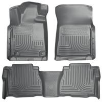 Husky Liners - Husky Liners 2012 Toyota Tundra Double/CrewMax Cab WeatherBeater Combo Gray Floor Liners - Image 1