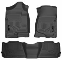 Husky Liners - Husky Liners 07-13 GM Escalade ESV/Avalanche/Suburban WeatherBeater Black Front/2nd Row Floor Liners - Image 1