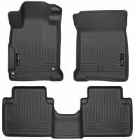 Husky Liners - Husky Liners 2013 Honda Accord WeatherBeater Black Front & 2nd Seat Floor Liners (4-Door Sedan Only) - Image 1
