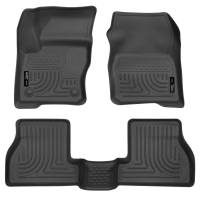 Husky Liners - Husky Liners 2012 Ford Focus (4DR/5DR) WeatherBeater Combo Black Floor Liners - Image 1