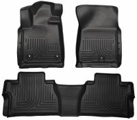 Husky Liners - Husky Liners 14 Toyota Tundra Weatherbeater Black Front & 2nd Seat Floor Liners - Image 1