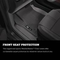 Husky Liners - Husky Liners 2019 Chevrolet Silverado 1500 Crew Cab WeatherBeater Blk Front & 2nd Seat Floor Liners - Image 3