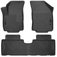 Husky Liners - Husky Liners 18-19 GMC Terrain WeatherBeater Black Front & 2nd Seat Floor Liners - Image 1