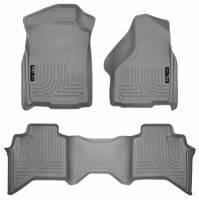 Husky Liners - Husky Liners 09-12 Dodge Ram 1500 Quad Cab WeatherBeater Combo Gray Floor Liners - Image 1
