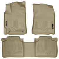 Husky Liners - Husky Liners 2012 Toyota Camry WeatherBeater Combo Tan Floor Liners - Image 1