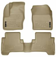 Husky Liners - Husky Liners 2013 Ford Escape WeatherBeater Combo Tan Floor Liners - Image 1