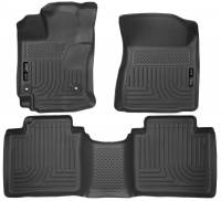 Husky Liners - Husky Liners 15 Toyota Venza WeatherBeater Front & Second Row Tan Floor Liners - Image 1