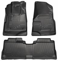 Husky Liners - Husky Liners 10-12 Cadillac SRX WeatherBeater Combo Black Floor Liners (One Piece for 2nd Seat) - Image 1