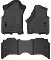 Husky Liners - Husky Liners 2019+ Ram 2500 Crew Cab Weatherbeater Black Front & 2nd Seat Floor Liners - Image 1