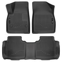 Husky Liners - Husky Liners Weatherbeater 2017 Cadillac XT5 / 2017 GMC Acadia Front & 2nd Seat Floor Liners - Black - Image 1