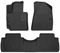Husky Liners - Husky Liners 2016 Kia Soul Weatherbeater Black Front & 2nd Seat Floor Liners (Footwell Coverage) - Image 1