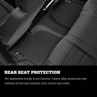 Husky Liners - Husky Liners 14-15 Chevy Silverado Double Cab X-Act Contour Black 2nd Row Floor Liners - Image 3