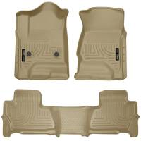 Husky Liners - Husky Liners 2015 Chevy/GMC Suburban/Yukon XL WeatherBeater Combo Tan Front & 2nd Seat Floor Liners - Image 1