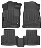 Husky Liners - Husky Liners 2016 Honda Civic (4DR) WeatherBeater Combo Black Floor Liners - Image 1