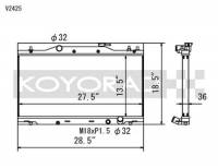 Koyorad Cooling Systems - Koyo V Series Aluminum Radiator 02-06 Acura RSX 2.0L I4 (MT) - Image 2