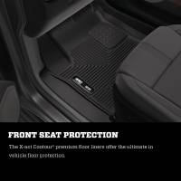Husky Liners - Husky Liners 14-15 Chevy Silverado Double Cab X-Act Contour Black 2nd Row Floor Liners - Image 2