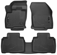 Husky Liners - Husky Liners 2015 Ford Edge WeatherBeater Front & 2nd Row Combo Black Floor Liners - Image 1