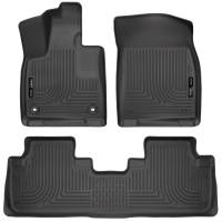 Husky Liners - Husky Liners Weatherbeater 16-17 Lexus RX350 / 16-17 RX450H Front & 2nd Seat Floor Liners - Black - Image 1