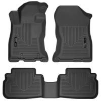 Husky Liners - Husky Liners 2019 Subaru Forester Weatherbeater Black Front & 2nd Seat Floor Liners - Image 1