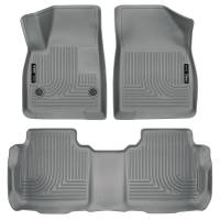 Husky Liners - Husky Liners Weatherbeater 2017 Cadillac XT5 / 2017 GMC Acadia Front & 2nd Seat Floor Liners - Grey - Image 1