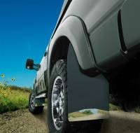 Husky Liners - Husky Liners Universal 12in Wide Black Rubber Front Mud Flaps w/ Black Weight - Image 3