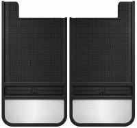 Husky Liners - Husky Liners Universal 12in Wide Black Rubber Rear Mud Flaps w/ Weight - Image 1