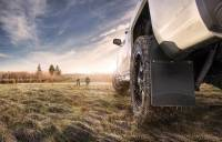 Husky Liners - Husky Liners GM 99-16 Silverado/Sierra 12in W Black Top & Weight Kick Back Front Mud Flaps - Image 2